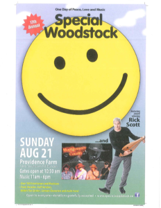 Special Woodstock poster
