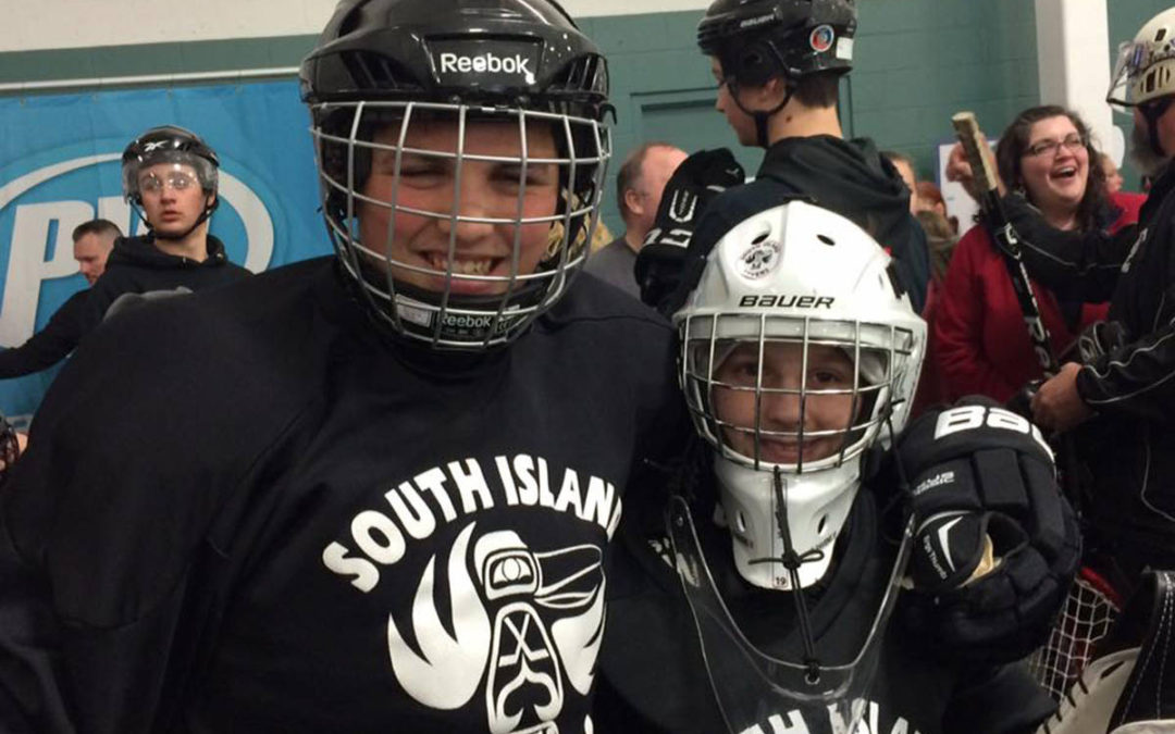 South Island hockey team for people with developmental disabilities preparing 'flash cheer mob'