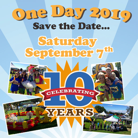 One Day Together 2019 10th Anniversary 10am Topaz Park